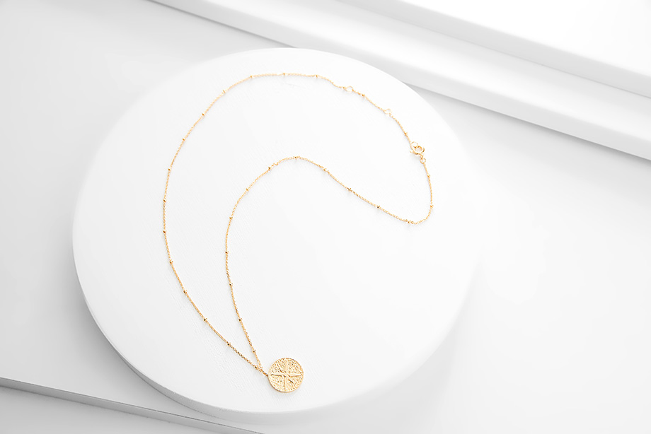 ADELINE silver necklace _Charm Silver