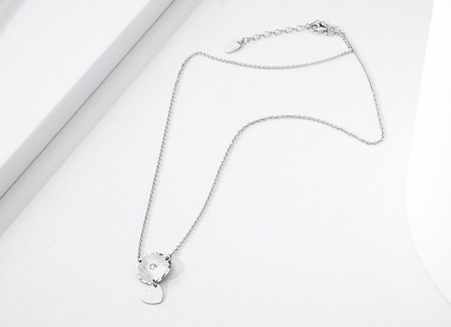 ADORE silver necklace _Charm Silver