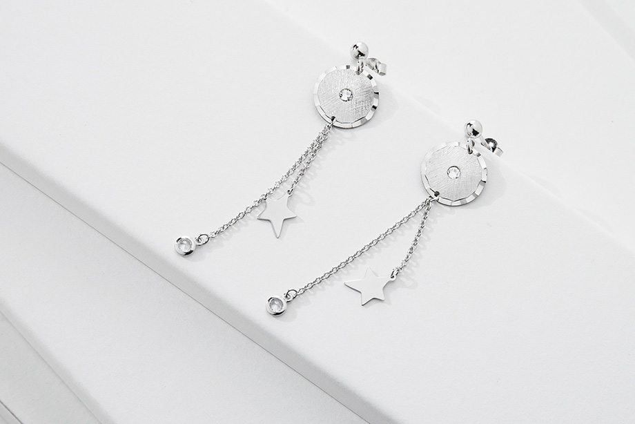 ASTRA silver earrings_Charm Silver