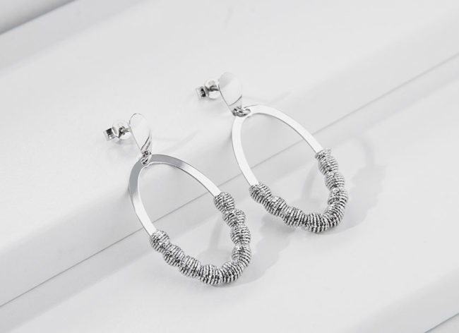 ENLIGHTEMENT silver earrings_Charm Silver