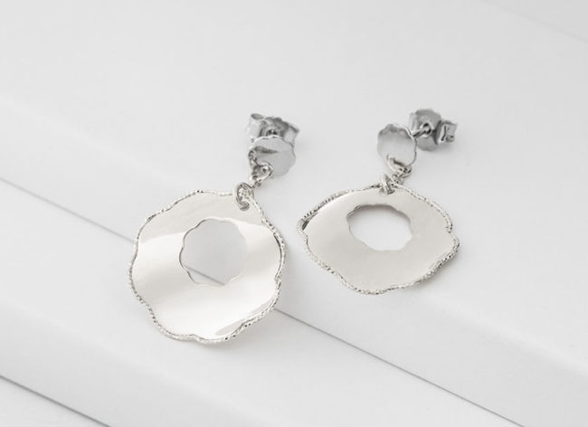FLORET silver earrings_Charm Silver