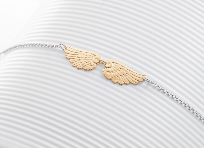 FLY AWAY golden silver bracelet_Charm Silver
