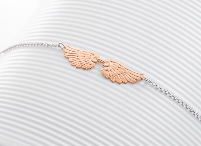 FLY AWAY rose gold silver bracelet_Charm Silver