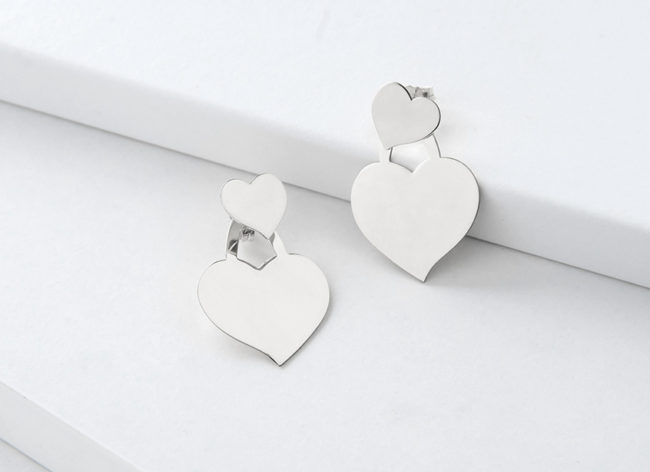 HEART&SOUL silver earrings_Charm Silver