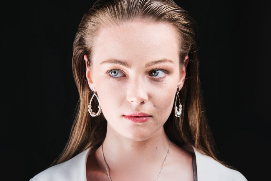 LUME silver earrings by Charm Silver