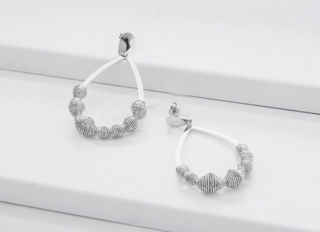 LUME silver earrings_Charm Silver