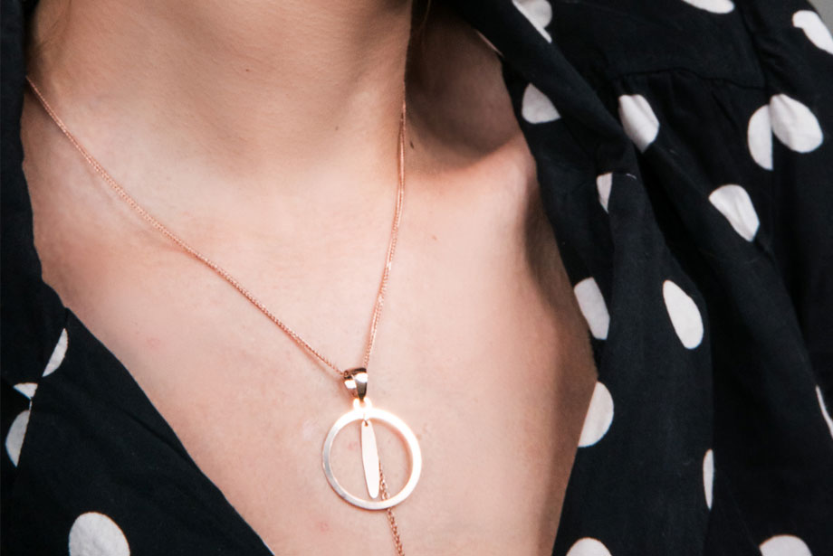 MOON CIRCLE silver necklace by Charm Silver