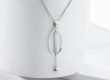 MOON STRING silver necklace_Charm Silver