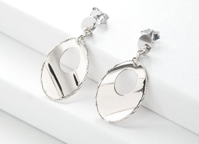 NUCLEUS silver earrings_Charm Silver