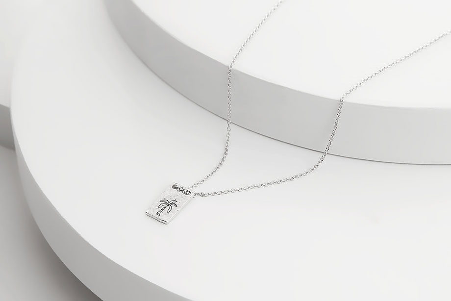 SOUTH BREEZE silver necklace_Charm Silver