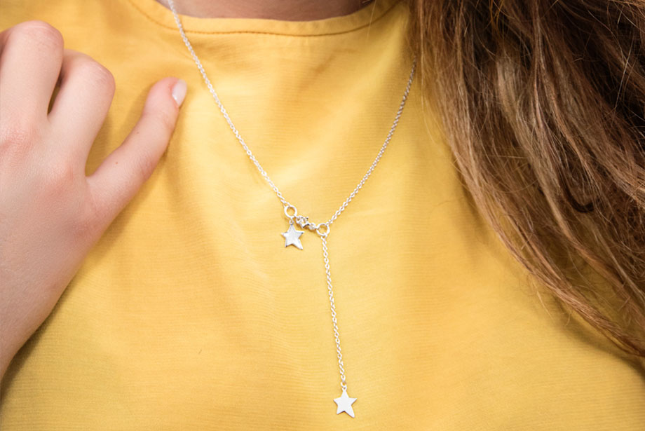 STARLET silver necklace by Charm Silver
