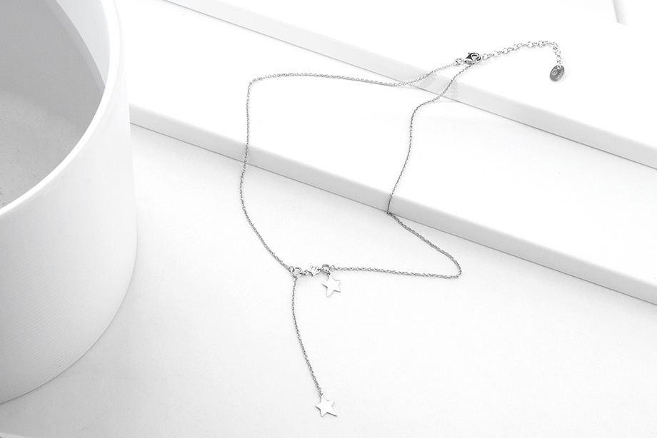 STARLET silver necklace_Charm Silver