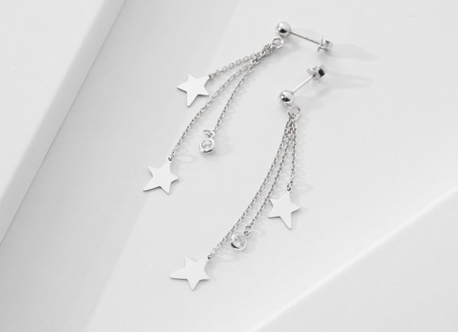 STARRY NIGHT silver earrings_Charm Silver