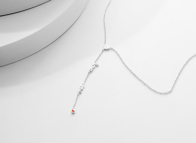 SWEET'n'TENDER silver necklace_Charm Silver
