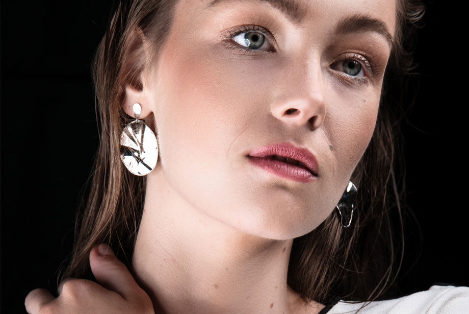 WINDING silver earrings by Charm Silver