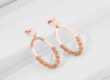ENLIGHTEMENT rose golden silver earrings-Charm SIlver