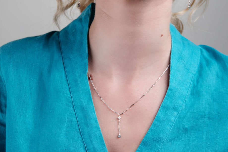 SKYE silver necklace by Charm Silver